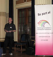 Photo: Nottinghamshire's Rainbow Heritage's project manager - who does not like to be photographed