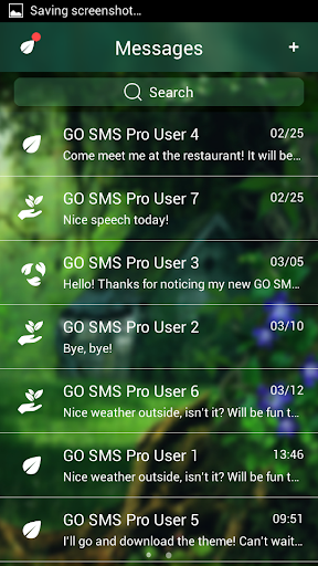 GO SMS Pro Forest