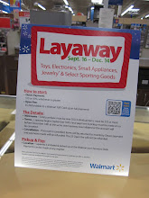 Photo: I love that Walmart offers the Layaway plan, for one to be able to purchase that you don't want your children too see and second it saves you time so you aren't in hurry around Christmas.