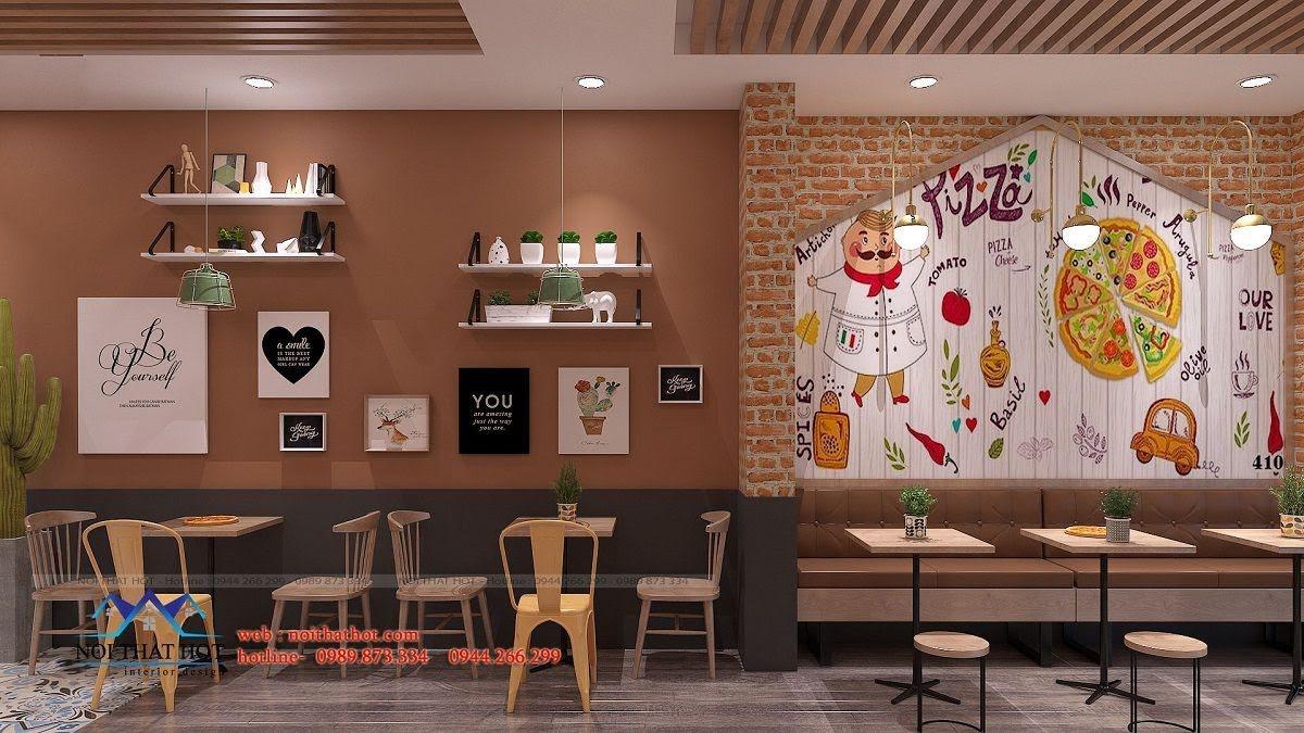 thiết kế cửa hàng pizza bau's 15