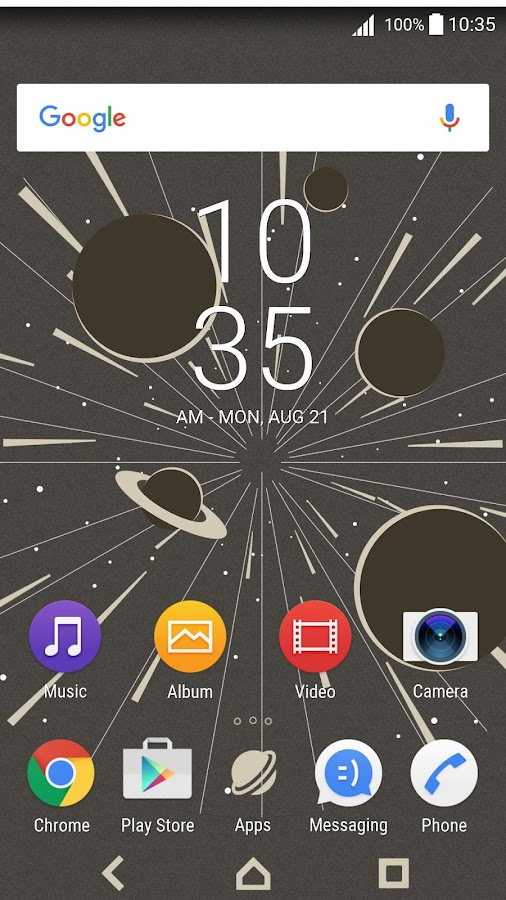 XPERIA™ Warp Drive Theme- screenshot