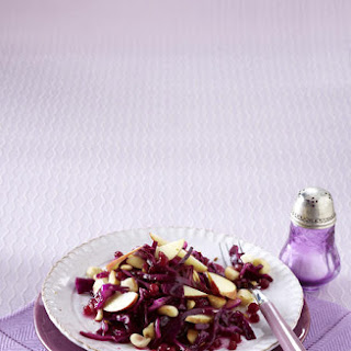 Red Cabbage Salad with Macadamias.
