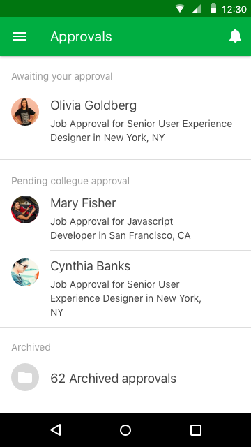 Hiring- screenshot
