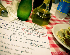 "Photo: My meal in Genova  I was sitting there with this hand written menu hanging out with some Italian photographers in a local restaurant.  Thinking: ""Dang I should be taking pictures of this."" Maybe every day to them but cool to others.  Taken way back in 2006 - Still a great picture for perhaps the kitchen wall. haha"