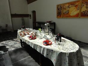 Photo: De tafel staat voor ons klaar.