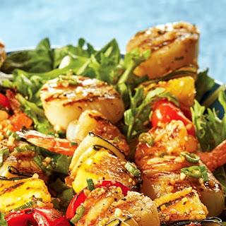 Tropical Shrimp & Scallop Kabobs Recipe