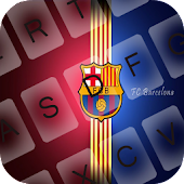 Barcelona Red Bue GO Keyboard