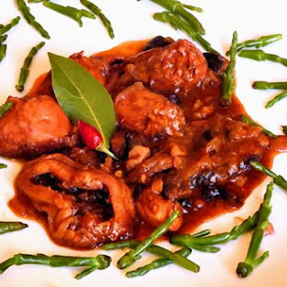 Octopus Stew With Currants, Walnuts and Black Olives