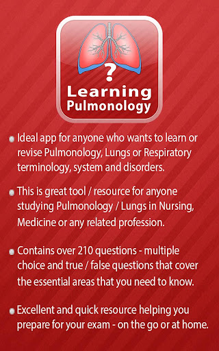 Learning Pulmonology Quiz screenshot for Android