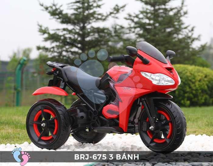 Xe moto điện trẻ em BRJ-675 3 bánh 12