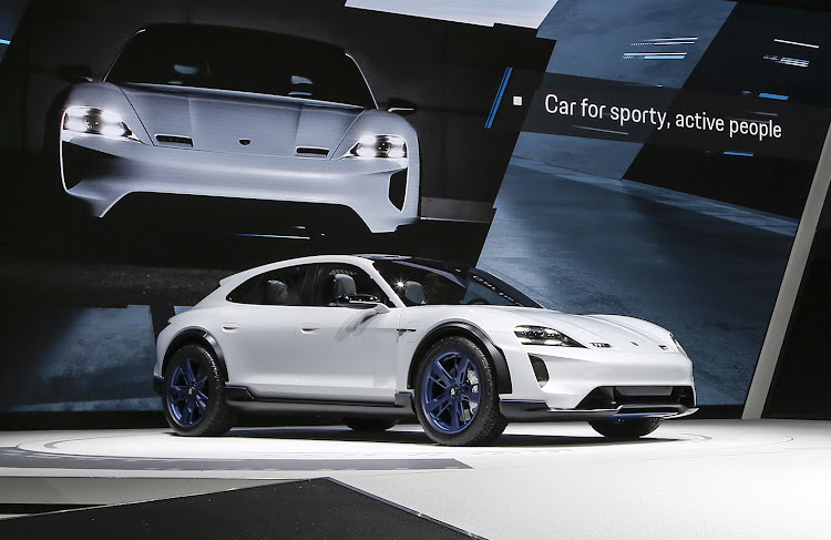 Porsche had a surprise reveal in the form of the Mission E Cross Turismo