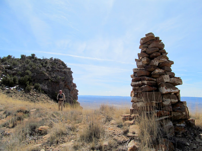 Photo: Cairn at the top of the trail