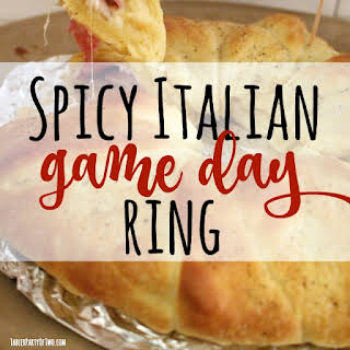 Spicy Italian Game Day Crescent Ring.