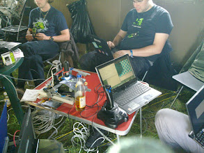 Photo: czech republic hackers with usb microscope and joystick