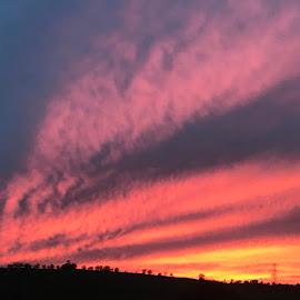 Red skies at night.. shepherds delight  by Zoe Clark - Uncategorized All Uncategorized (  )