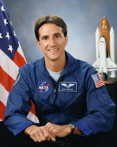 Official portrait of astronaut Donald A. Thomas
