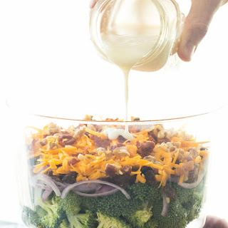 Layered Broccoli Salad