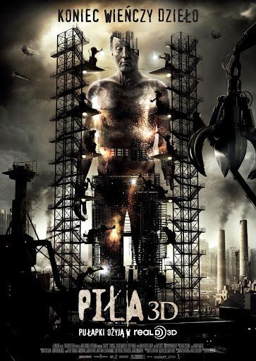 Polski plakat filmu 'Piła 3D'