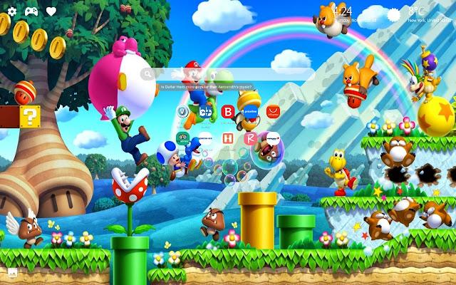 Super Mario Bros Wallpapers Hd New Tab Theme