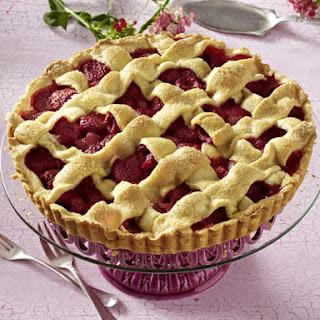 Raspberry and Marzipan Tart.