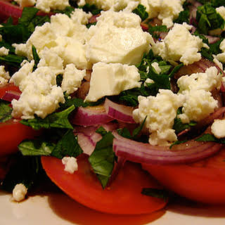Tomato, Red Onion and Feta Salad.