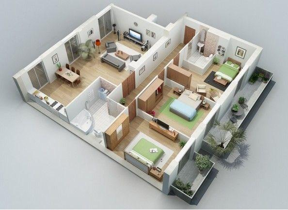 Excellent d ides de plan de maison android sur google play with plan de maison 3d 4 chambres