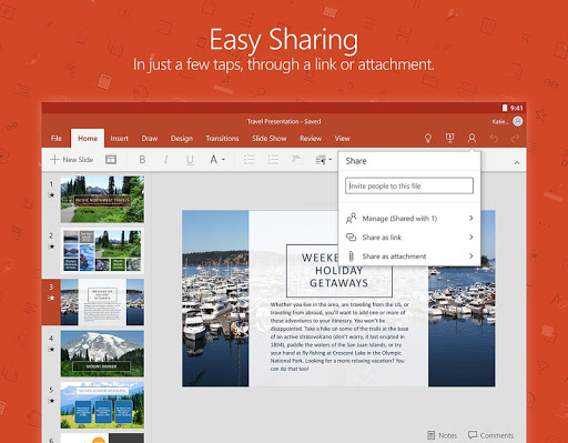 Microsoft PowerPoint app (apk) free download for Android/PC/Windows screenshot