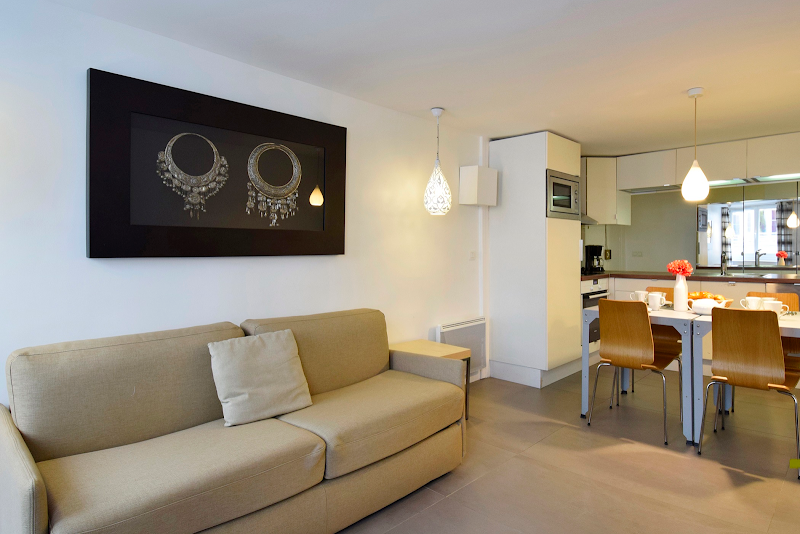 Living area at 2 bedroom Apartment Near Les Halles