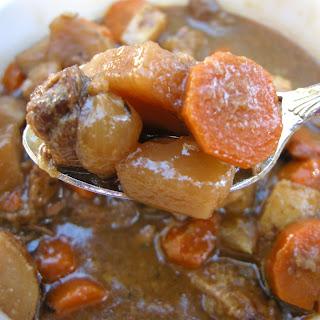 Tomato-Less Rustic Beef Stew Recipe