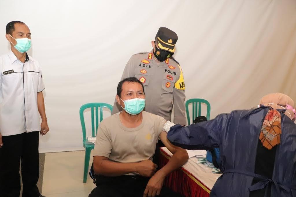 Anggota Polres Ponorogo Jalani Vaksinasi Tahap Kedua