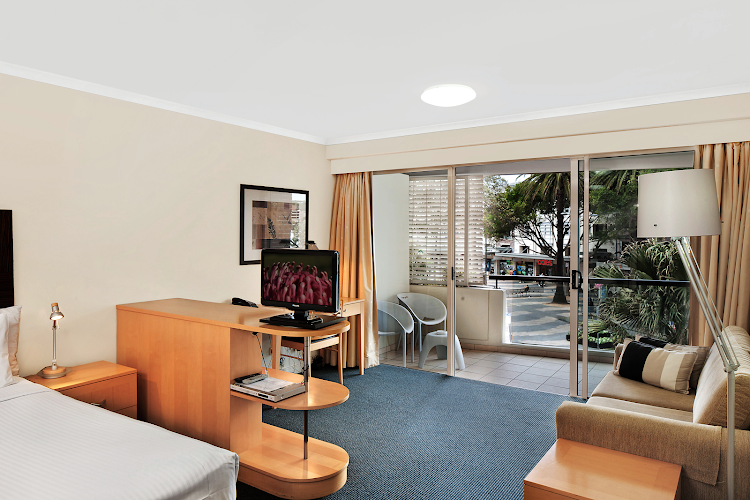 Spacious living area at Quest Manly