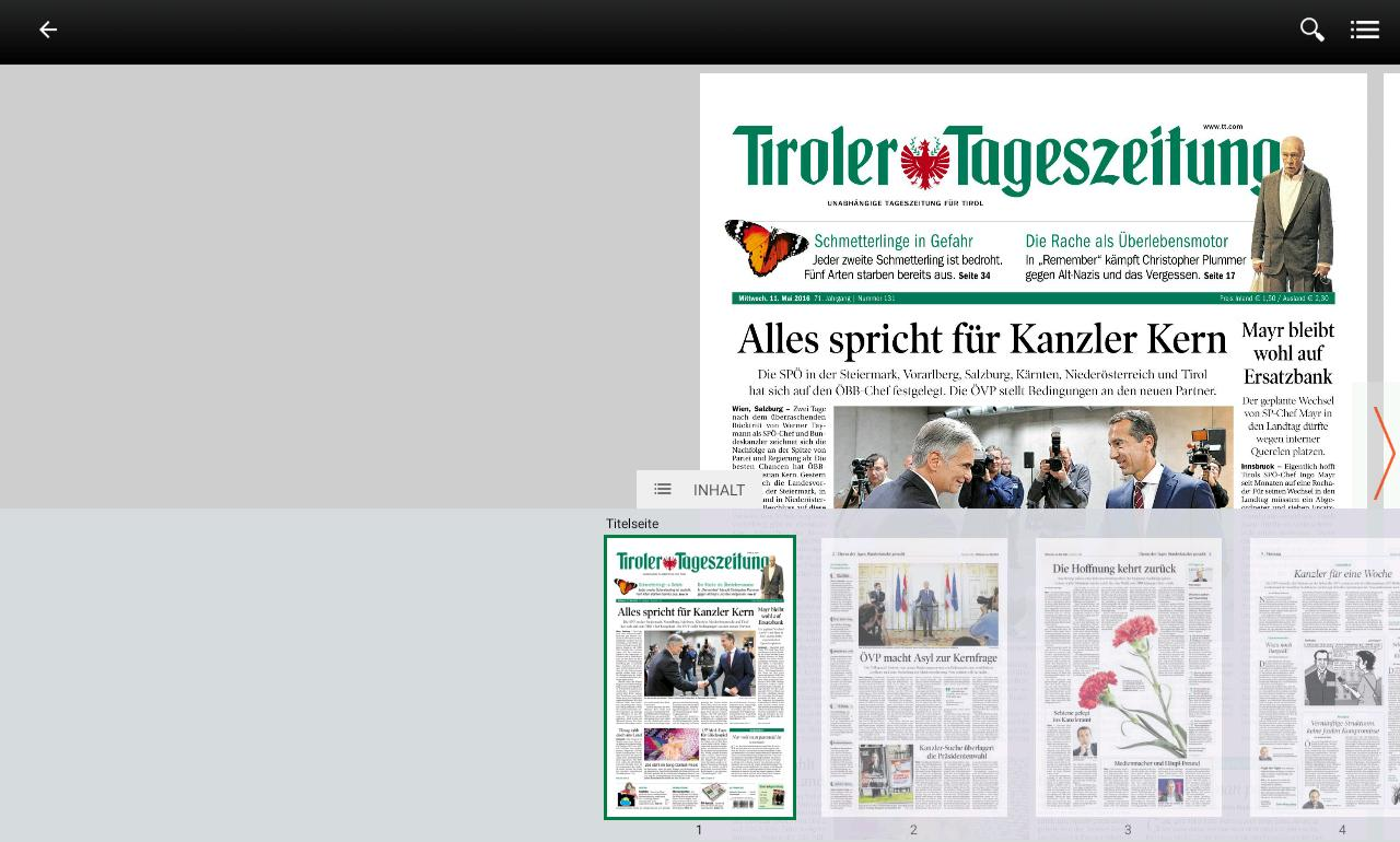 TT ePaper – Screenshot