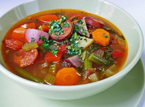 German Bean And Sausage Soup Recipe