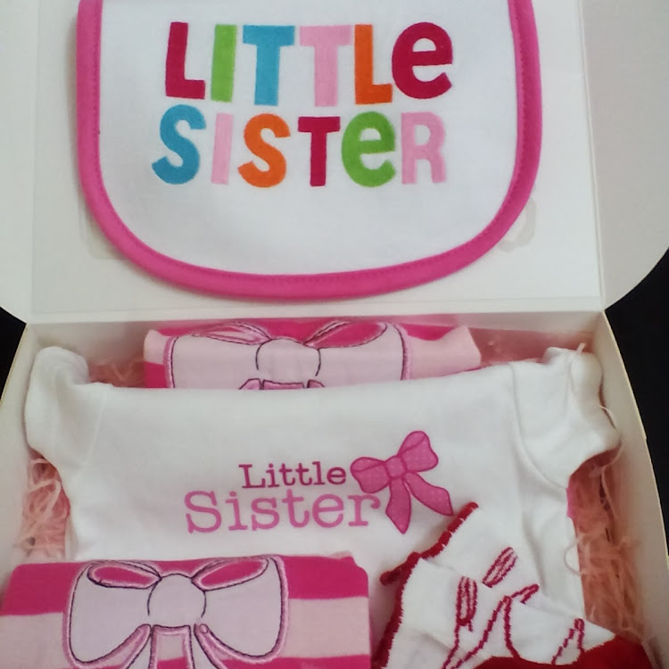 Little sister pretty pink bow set (G3180)