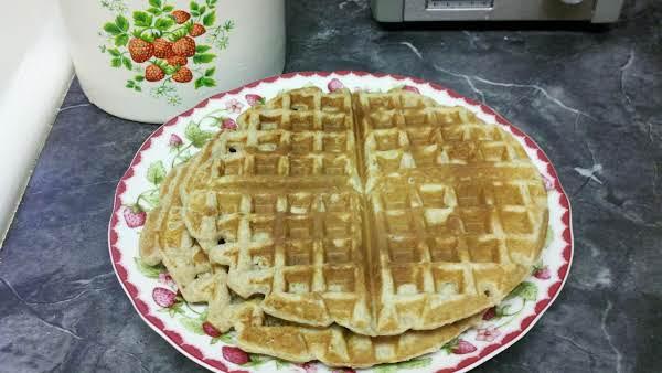 Impromptu Sourdough Waffles