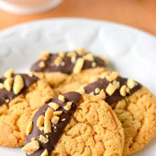 Chocolate Dipped Flourless Peanut Butter Cookies.