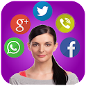 Talking Notification Girl -Pro icon
