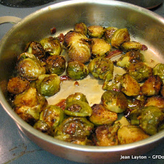 Roasted Maple Brussels Sprouts with Bacon