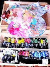 """Photo: Allez sur Google + """"Philippe R"""" pour décourvir mes peintures (ma boite de peinture BLOCKX et l'une des palettes)"""