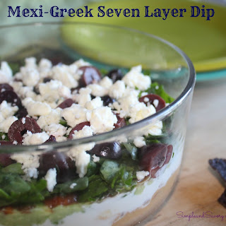 Mexi-Greek Seven Layer Dip #TwoSpoons