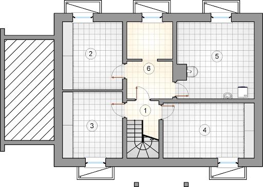 Krasnal II - Rzut piwnicy