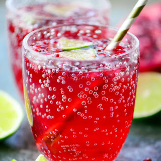Pomegranate Lime Holiday Punch.