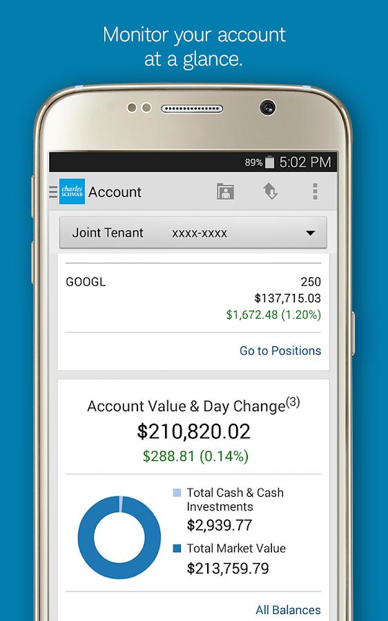 Schwab Mobile - screenshot