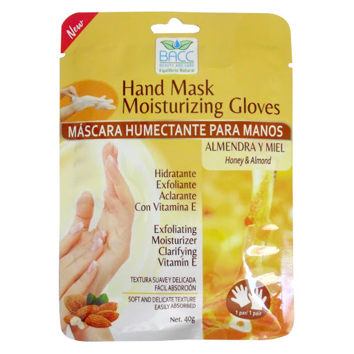 mascarilla facial bacc humectante para manos almendra y miel