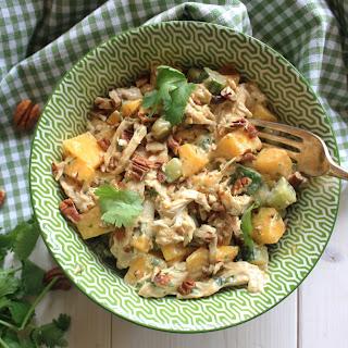 Coronation Chicken Salad with Mango.
