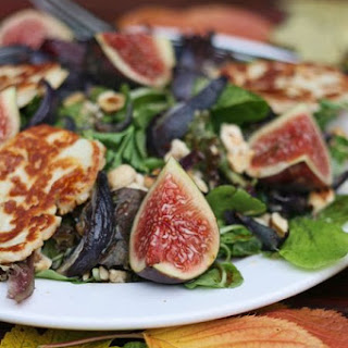 Fig, Halloumi and hazelnut salad
