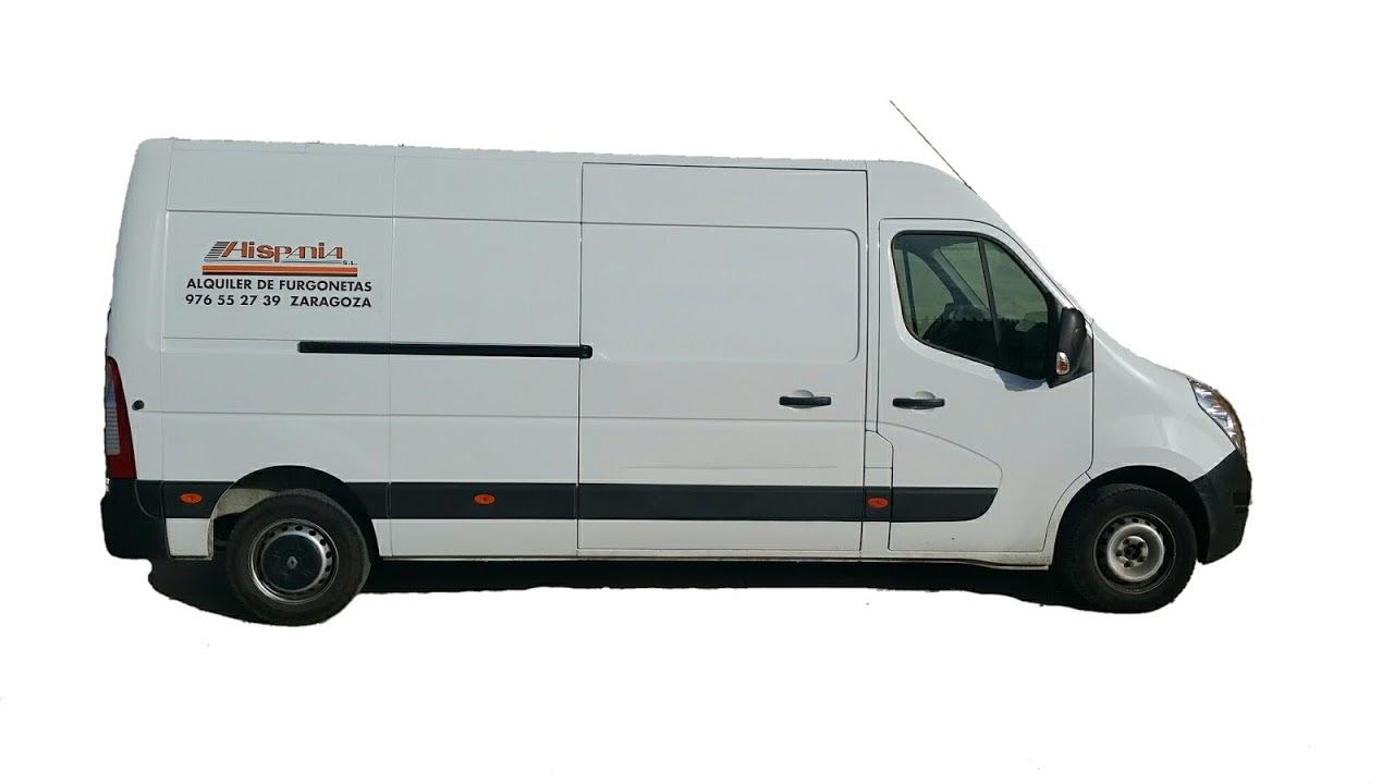 Alquiler de furgoneta Renault master L3H2 en Zaragoza y Huesca