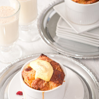 New Year's Bruch Panettone Bread Pudding