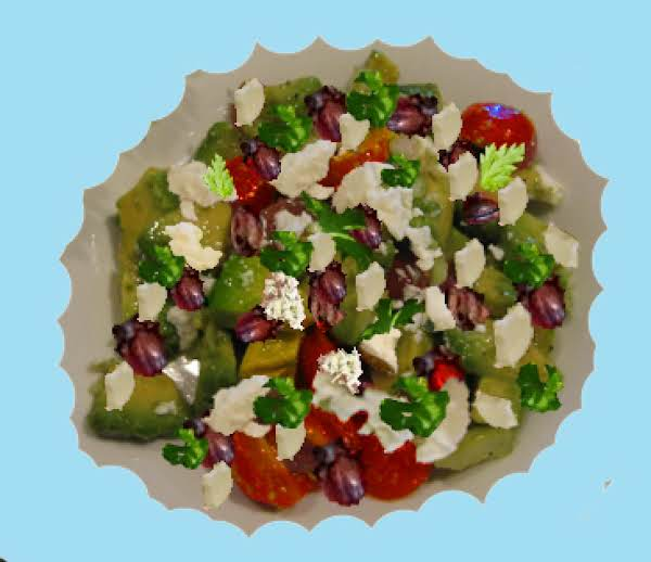 Healthy And Tasty - Greek Avocado & Feta Salad Has It All.