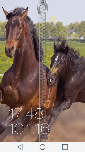 Horse Zipper Lock Screen